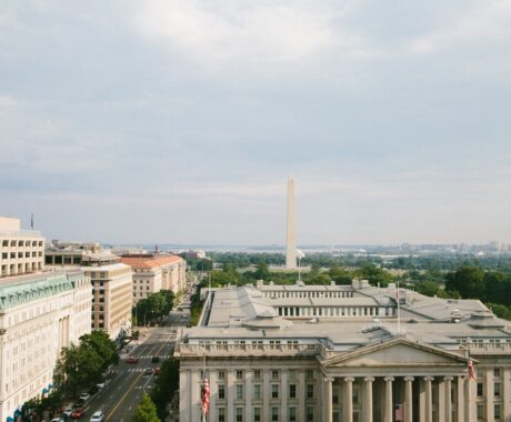 DC buildings from above by Anna Lowe of Pexels