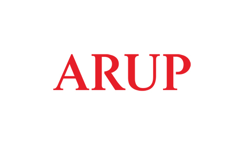 ARUP logo in red