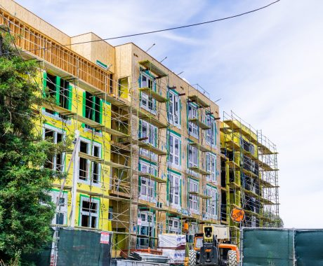 New and modern, multilevel apartment complex under construction