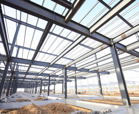 Steel frame structure